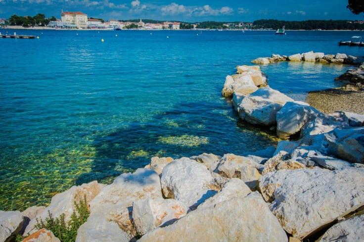 Vattnet i Kroatien Poreč