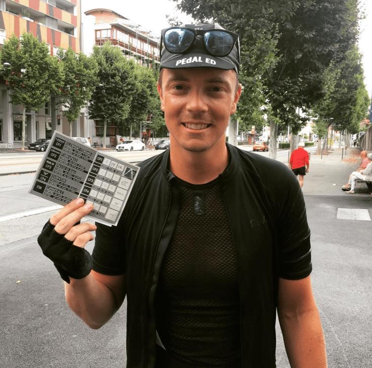 Anton Lindberg 2016 under hans första Transcontinental Race (TCRN06). 400 mil genom Europa.