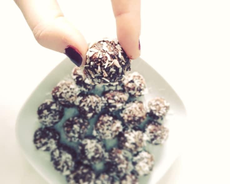kokosbollar som är sockerfria