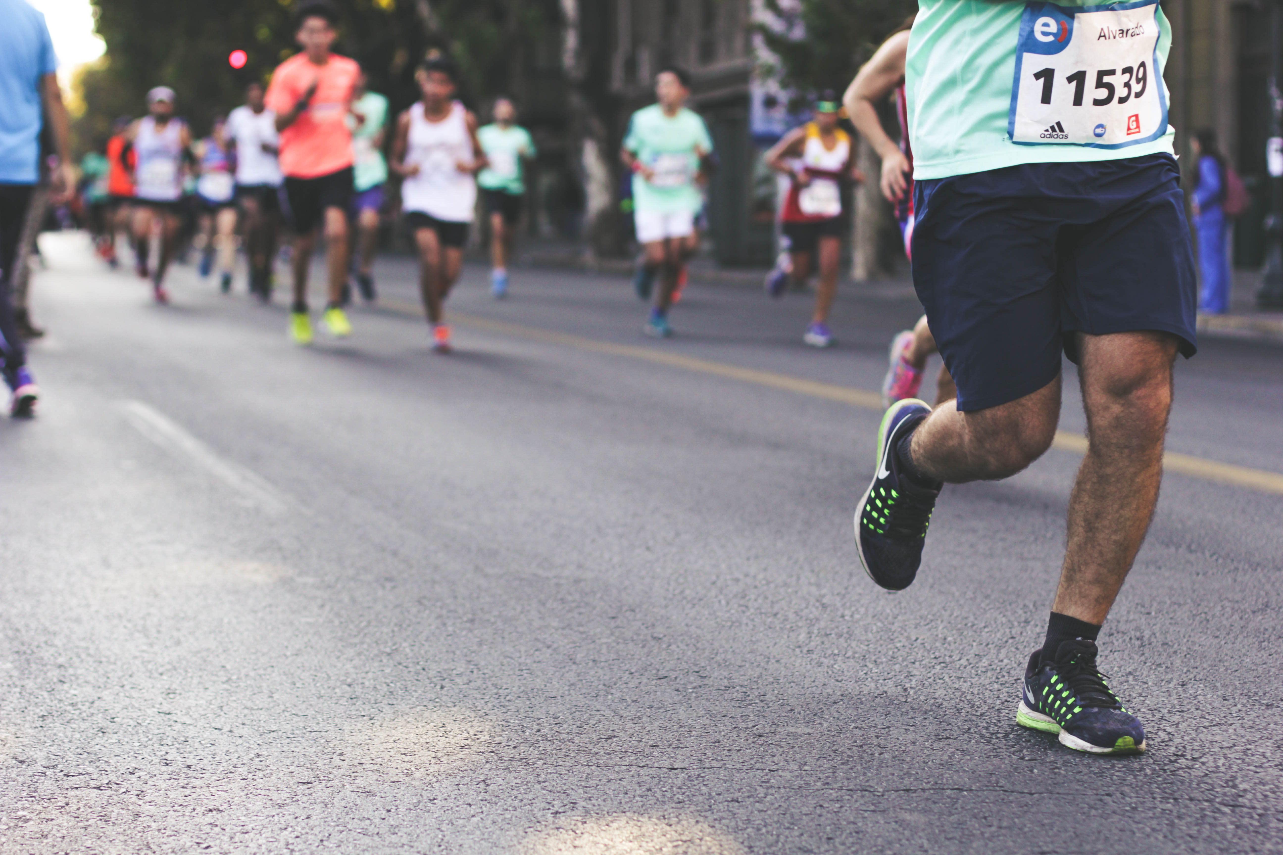 Juoksukilpailuun valmistautuminen