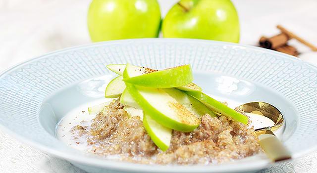 Ruispuuro omenan ja kanelin kera