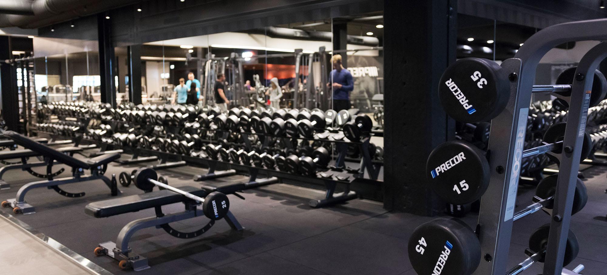 fitness dk parken holdplan