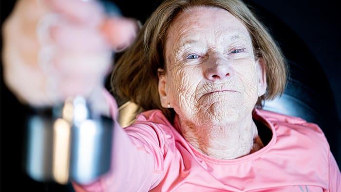 Da Reidun var 87 år nådde hun toppen av klatreveggen