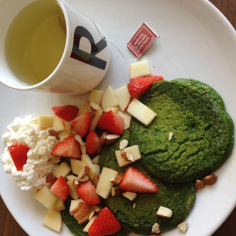 Grønne, gode spinatpannekaker