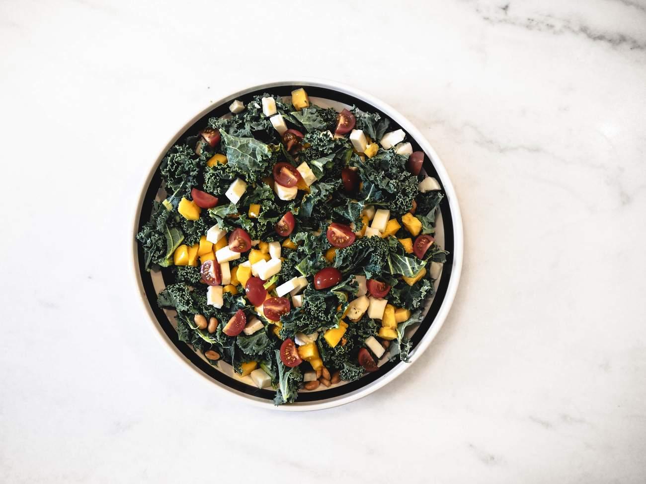 Grønnkålsalat med kylling