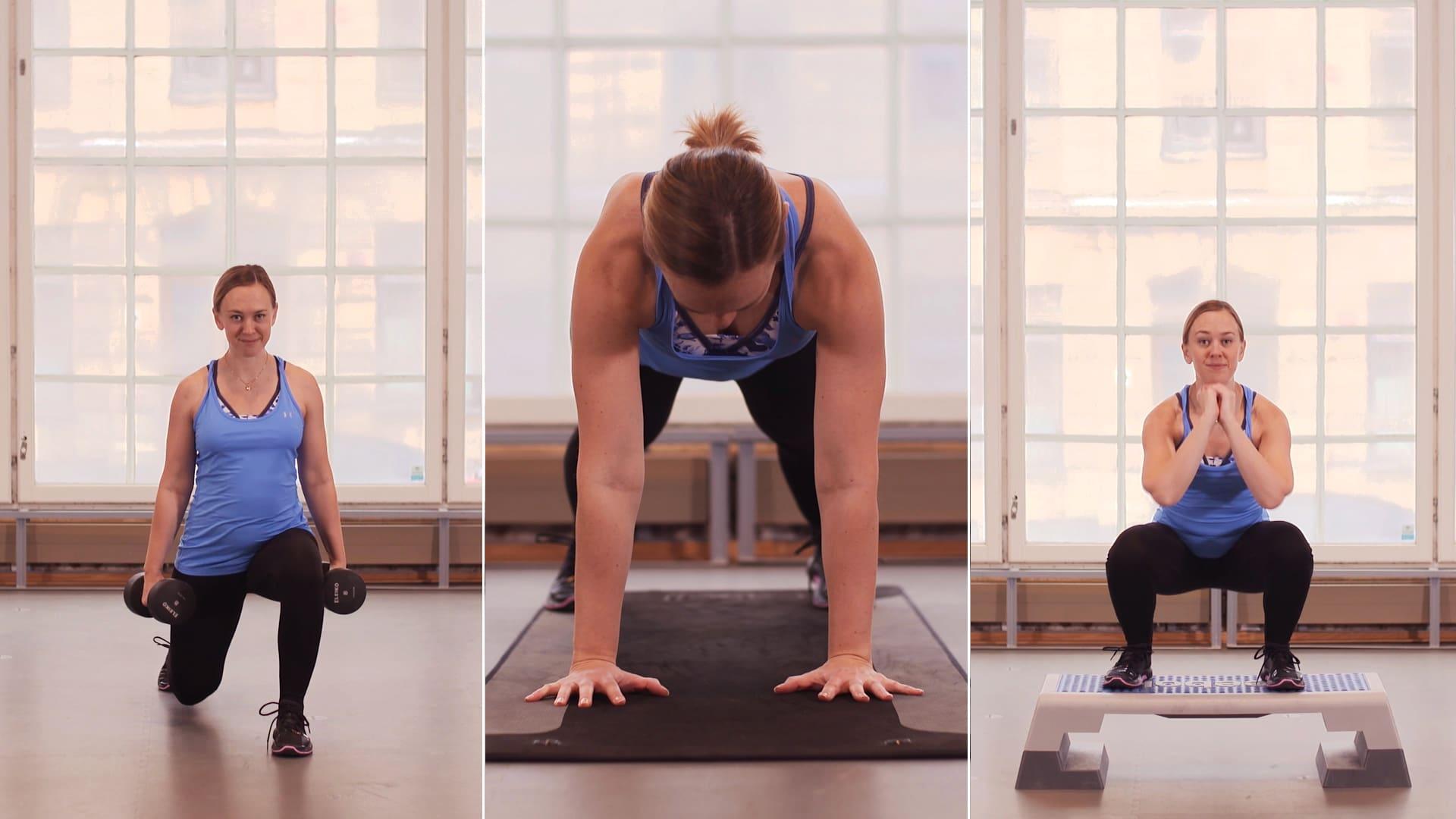 11 styrkeøvelser for å gå ned i vekt
