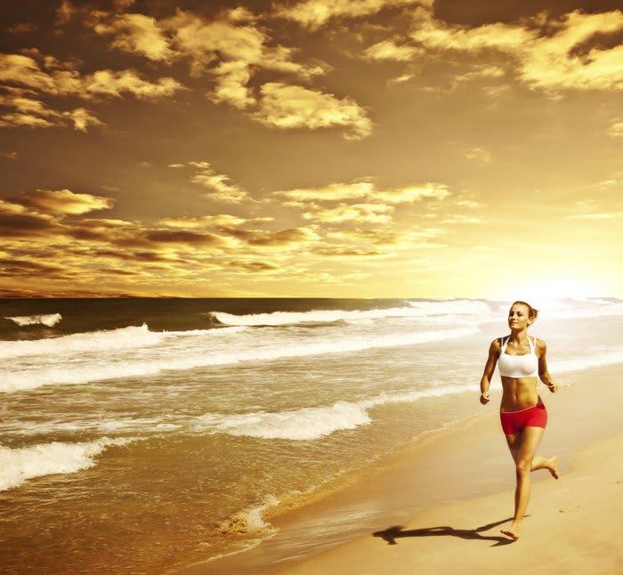 Träna på stranden!
