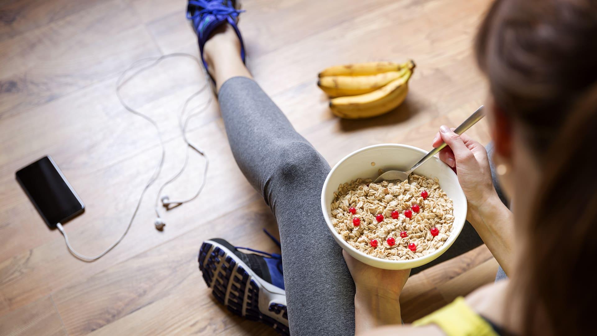 äta efter konditionsträning