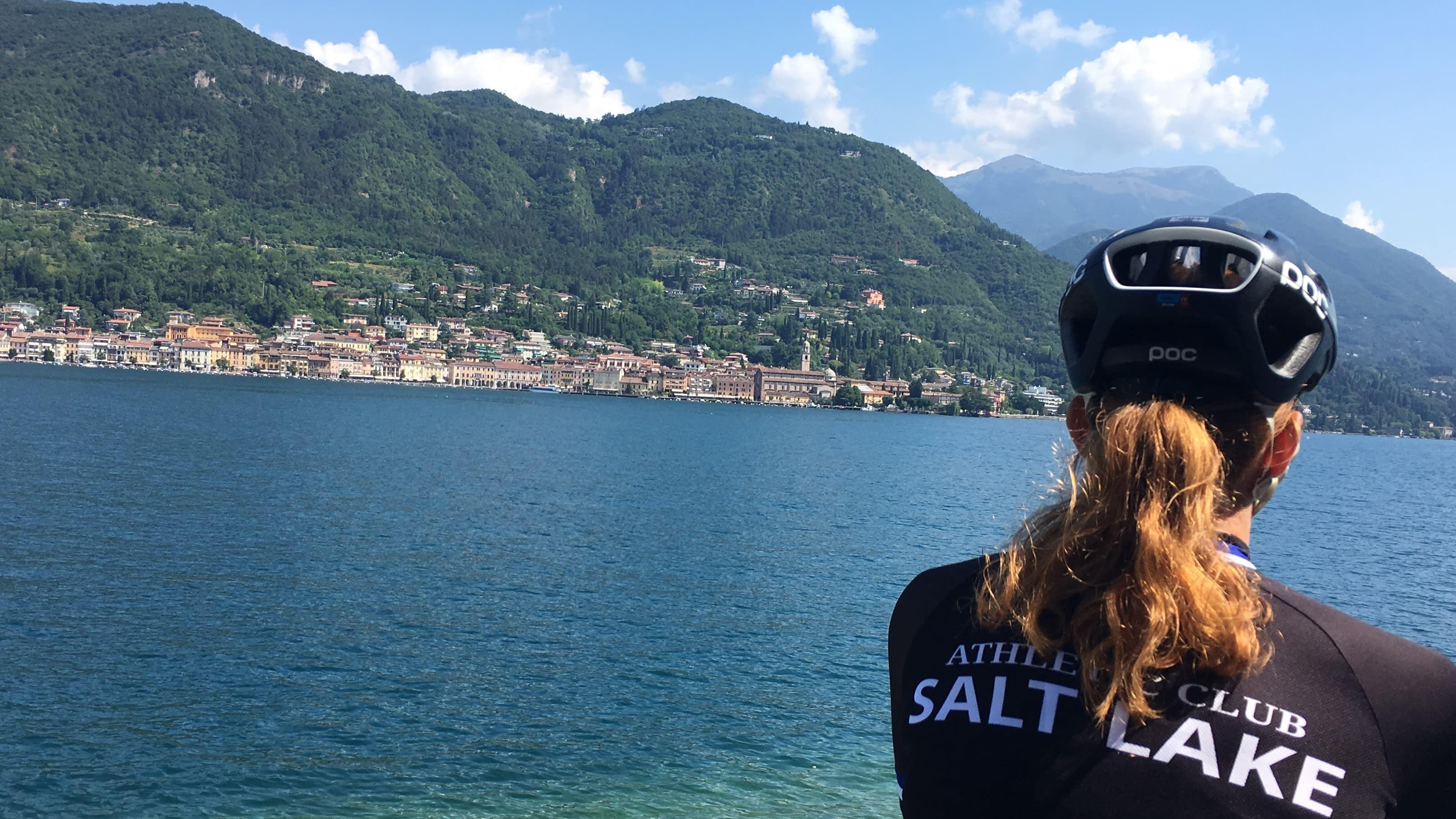 Cykla omkring Gardasjön i Italien