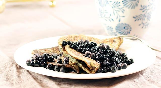 Mandel- och blåbärsplättar