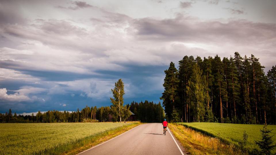 Att cykla genom Sverige
