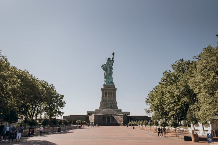 Statue of Liberty with Pedestal Access & Ellis Island Tour image
