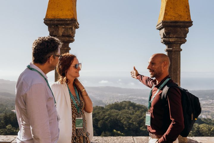 Sintra Fully Guided Tour with Pena Palace & Gardens  image