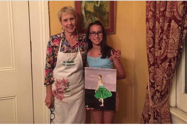 Watercolor and Pizza with Degas' Great-Grand Niece  image