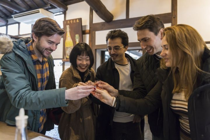 Kyoto Sake Brewery Tour with Lunch image