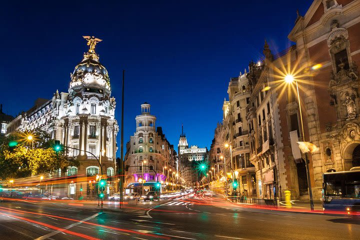 Madrid Walking Tour at Night with Optional Flamenco Show image