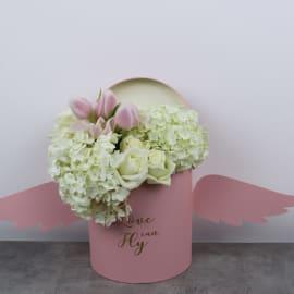 Elegant Pinkish White Floral Box