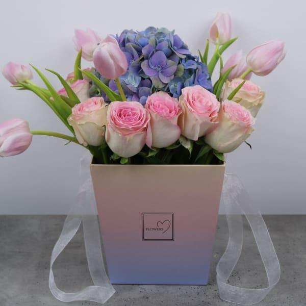 Romantic Floral Basket