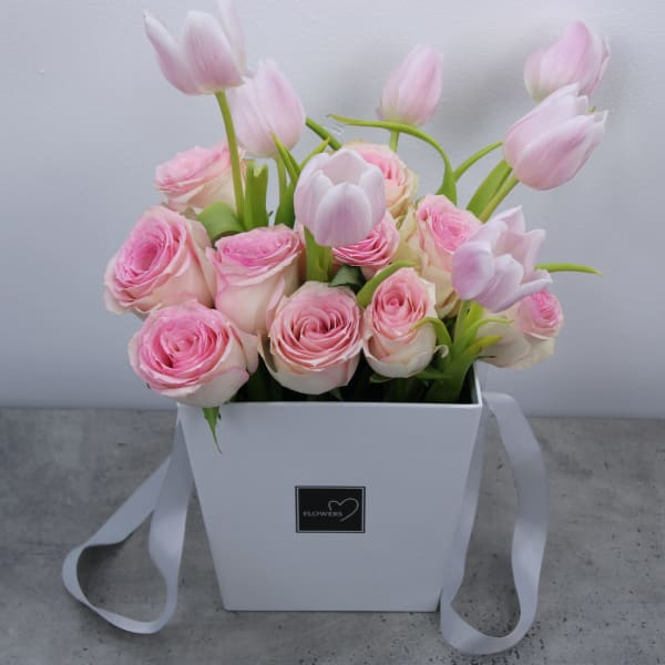 Enchanting Pinkish Floral Basket