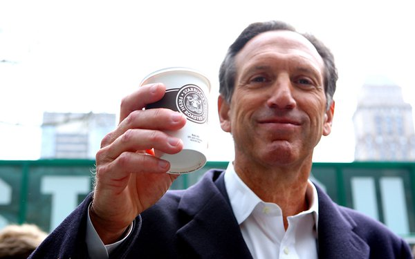 Howard Schultz, presumably pictured here still a Democrat