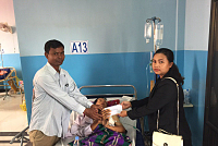 Ms. Thavath Thida gave humanitarian...