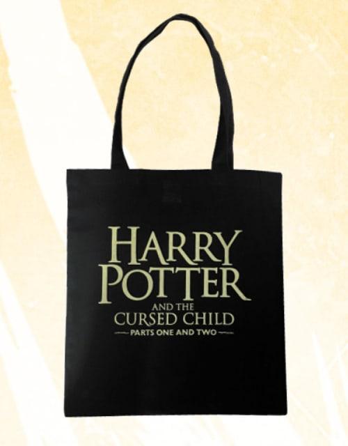 Cursed Child Logo Text Tote Bag