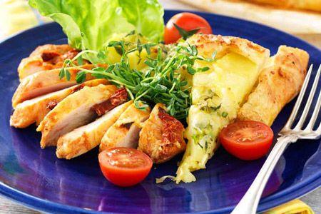 kyckling med västerbottensost och soltorkade tomater