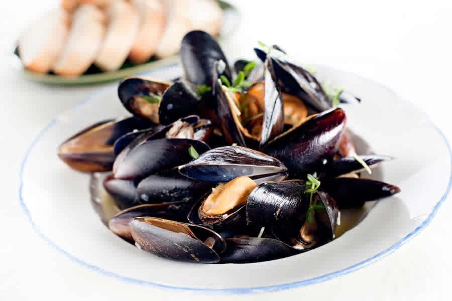 Musslor i vinäger (förrätt)