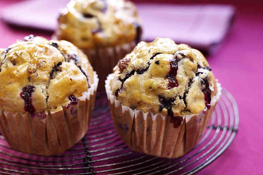 Muffins med äpple, havregryn och russin (utan socker)