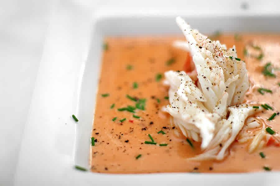 Kryddstark krabbsoppa (förrätt)