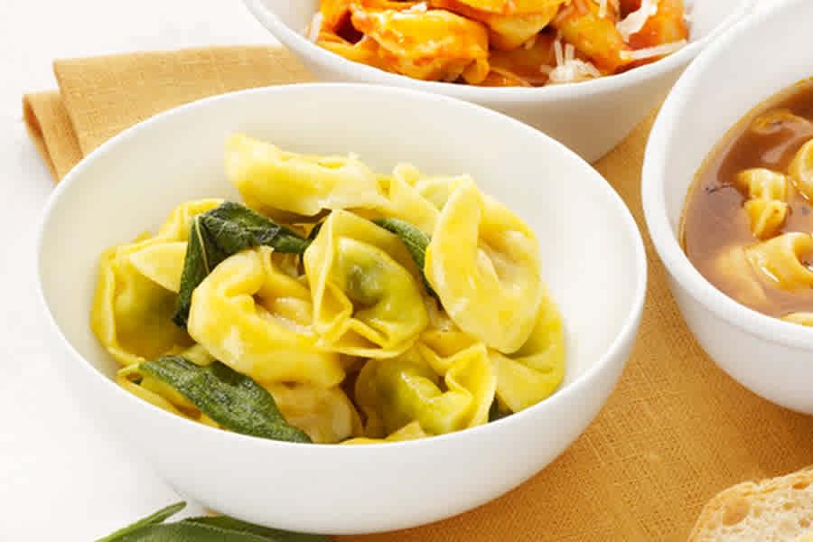 pasta med fyllning