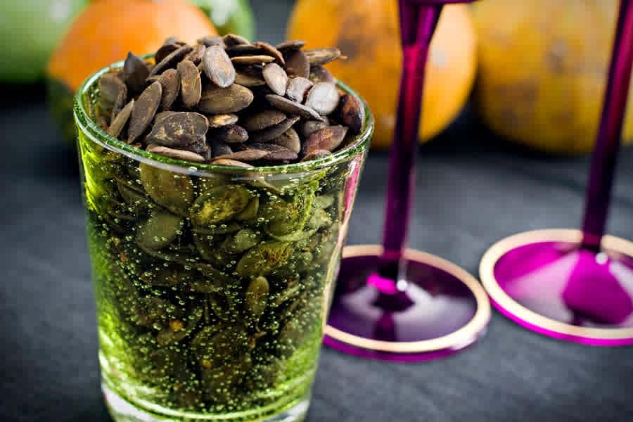 Heta pumpakärnor (snacks)
