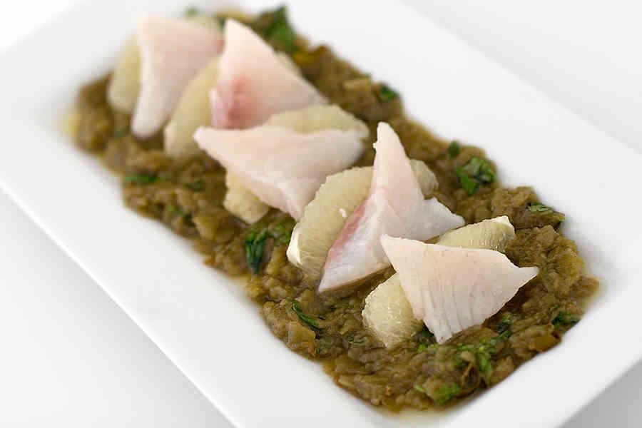 Sea Bream ceviche (förrätt)