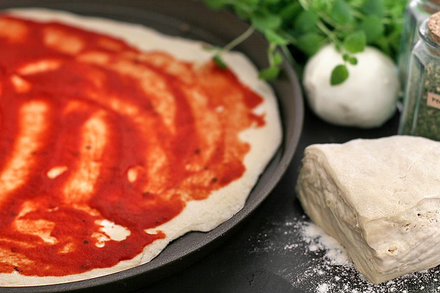 Pan pizza i långpanna - grundrecept