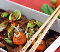 Asiatisk kyckling med bambuskott