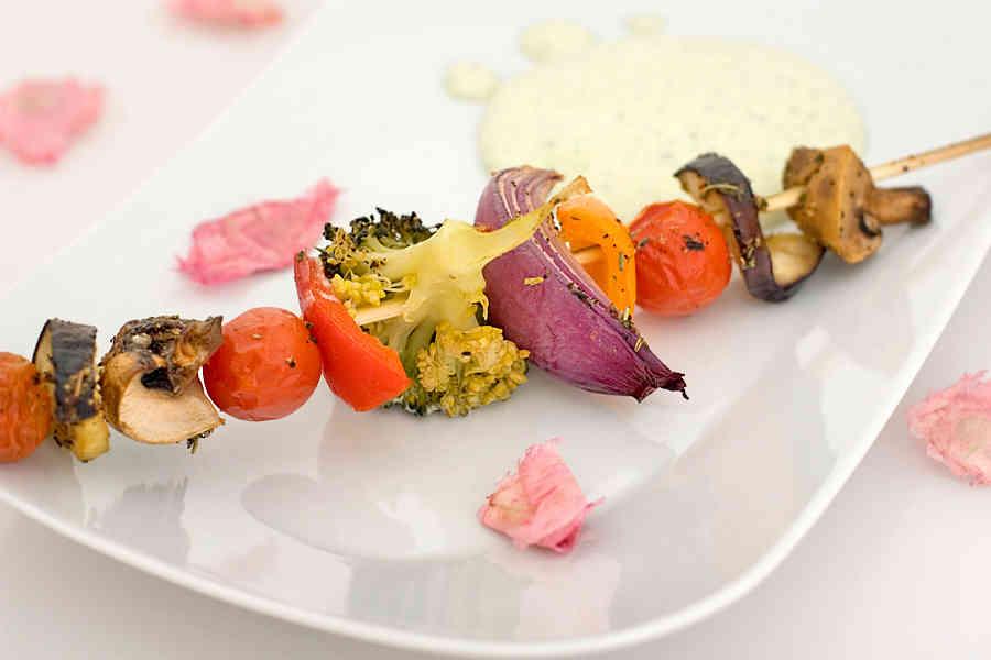 vegetariskt grillspett recept