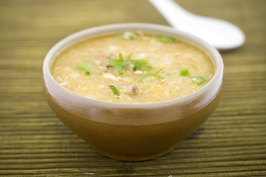 majssoppa med kyckling