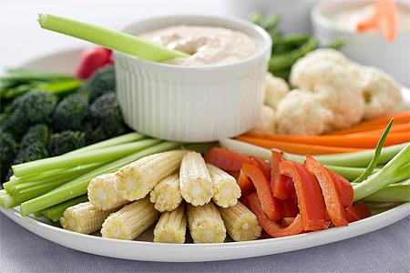 Grönsaksdip med 3 enkla såser (plockmat)