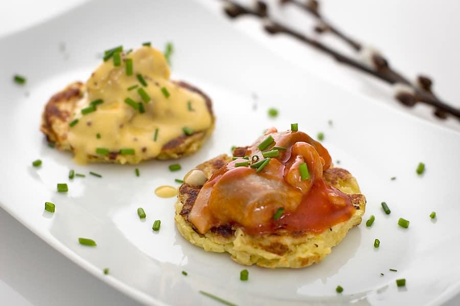 Potatiskaka med sill och gräslök (plockmat)