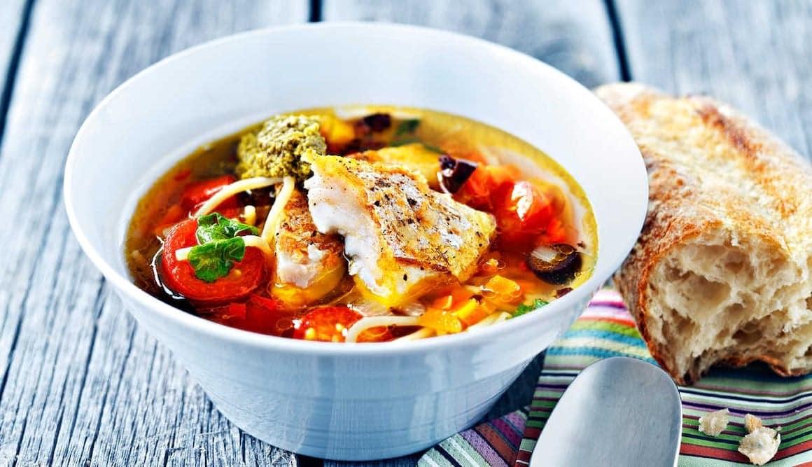 Fisksoppa minestrone
