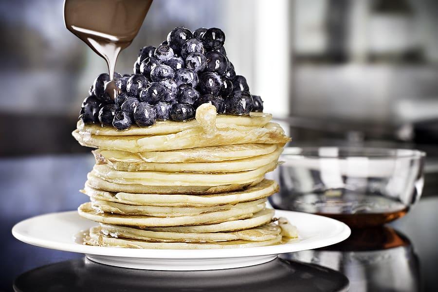 American pancakes med blåbär