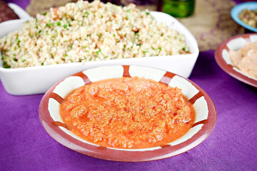 Het tomatdipp med ingefära