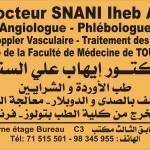 Dr Iheb Ali Snani, Angiologue, Tunis
