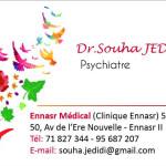 Dr Souha Jedidi, أخصائي في الأمراض العقلية, معالج نفسي, أخصائي في علاج الإدمان, Ariana