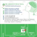 dr Dr Hafsa Abouelfaraj, Psychiatrist, Psychotherapist, Addictologist, Psychogeriatrician à Casablanca