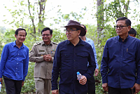 Mr. Veng Sakhon visits the nursery in...