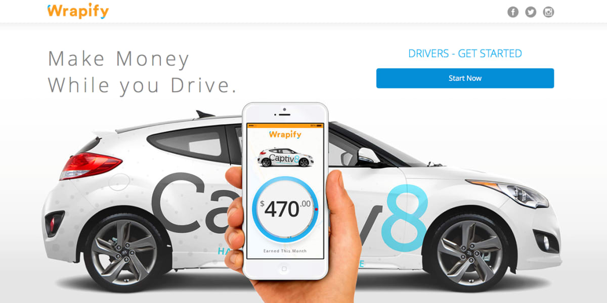 Advertise on your car - Get paid with Wrapify in Sacramento - AppJobs