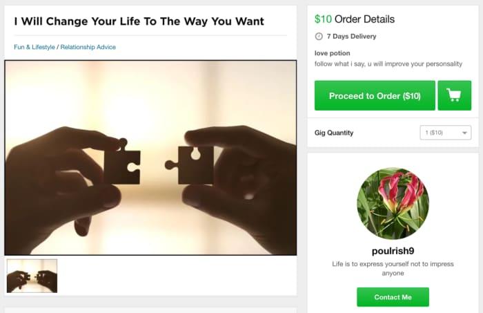 making easy money on Fiverr