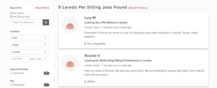 Become a pet sitter in Laredo, TX with PetSitter com - AppJobs