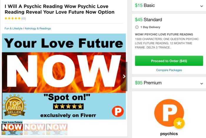 can psychichs make money on fiverr